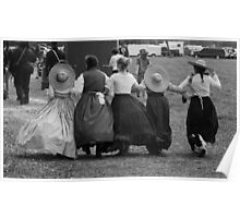 Hoop skirts BW Poster