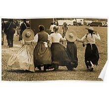 Hoop skirts in Sepia Poster