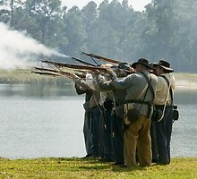 Volley fire by Larry  Grayam