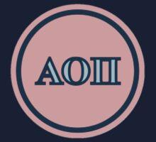 Alpha Omicron Pi Letters Kids Tee
