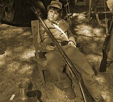 Waiting in sepia by Larry  Grayam