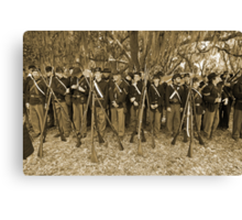 Union muster in sepia Canvas Print