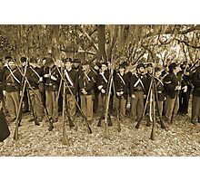 Union muster in sepia Photographic Print