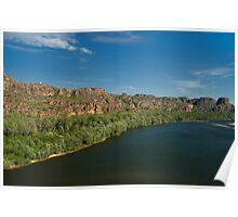 East Alligator river - aerial view in morning light Poster