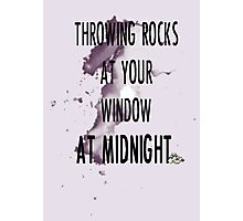 rock throwing at midnight Photographic Print