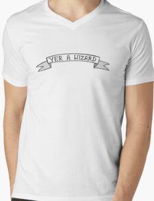 YER A WIZARD Mens V-Neck T-Shirt