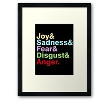 The Emotions Framed Print