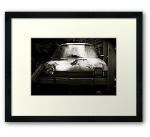 AMC Pacer at Kaufdorf B&W Framed Print