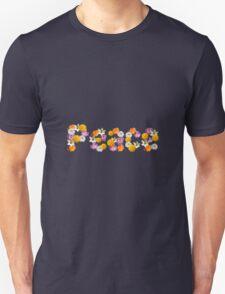 """Floral """"Peace"""" Design Unisex T-Shirt"""