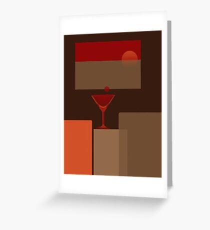 Sunset - it's Martini time - Still life 2 Greeting Card