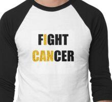 Fight Cancer Gold Childhood Cancer Awareness Men's Baseball ¾ T-Shirt