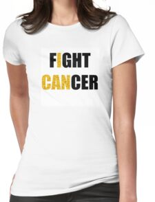 Fight Cancer Gold Childhood Cancer Awareness Womens Fitted T-Shirt