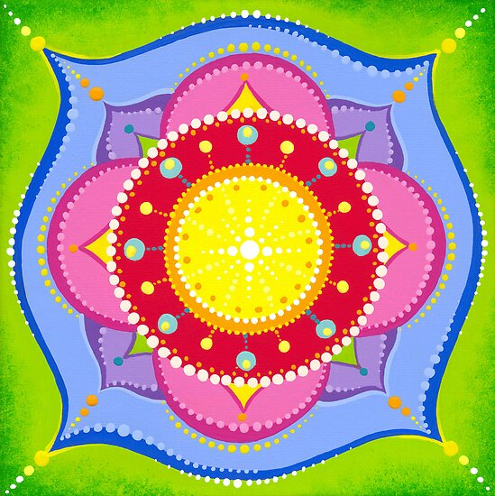 Lotus Flower Mandala by Elspeth McLean