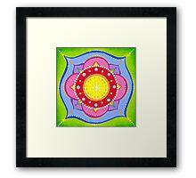 Lotus Flower Mandala Framed Print
