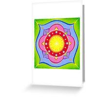 Lotus Flower Mandala Greeting Card