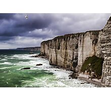 France. Normandy. Cliffs of Etretat. The other side. Photographic Print