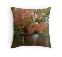 Autumn the Salmon Ponds, Tasmania Throw Pillow