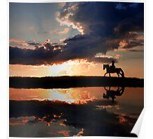 Horseback rading Poster