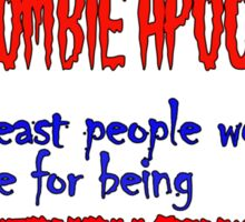 Republican Zombies Sticker