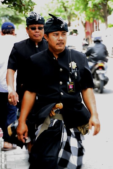 Pecalang Police by Jenny Norris