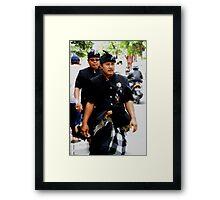 Pecalang Police Framed Print