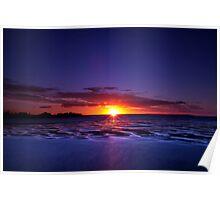 Evening glitter in Hervey Bay Poster