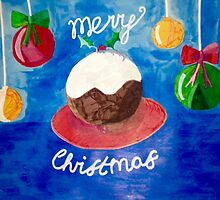 christmas pudding  by Sarah -jane Pearce