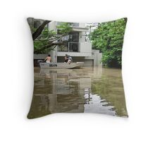 Brisbane Floods 2011 - Inundation - To The Corso Throw Pillow