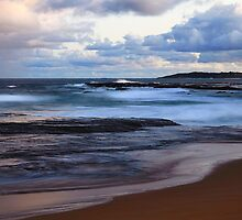 Narrabeen pool from Turrimetta beach after sunset by Doug Cliff