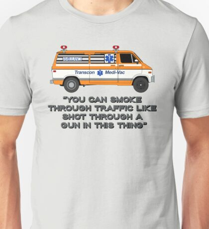 Cannonball Run - J.J. and Victor's Ambulance - With Tagline Unisex T-Shirt