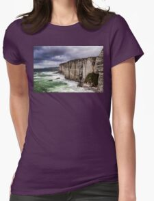 France. Normandy. Cliffs of Etretat. The other side. Womens Fitted T-Shirt