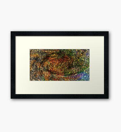 Undersea design warm gold version. Framed Print