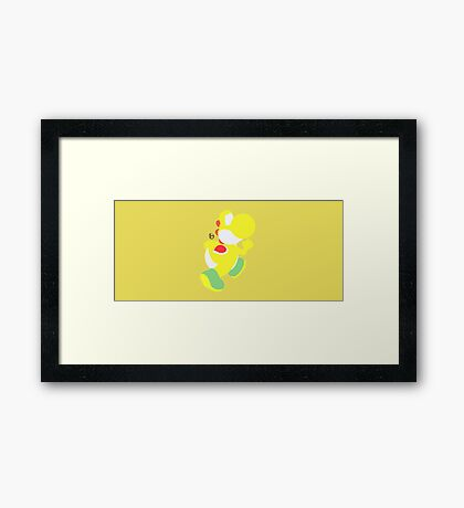 Yoshi (Yellow) - Super Smash Bros. Framed Print