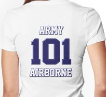 Army 101 Airborne Women's Fitted V-Neck T-Shirt