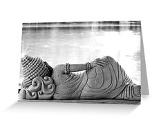 Basking Buddha Greeting Card