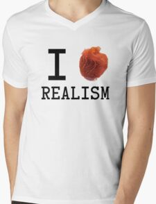 I love realism Mens V-Neck T-Shirt