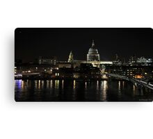 St Paul's by night Canvas Print