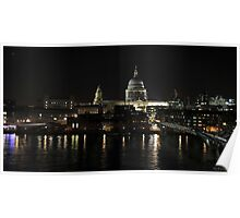 St Paul's by night Poster