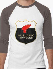 'Muslamic Ray Guns' Large Emblem Men's Baseball ¾ T-Shirt