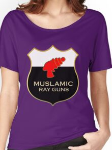 'Muslamic Ray Guns' Large Emblem Women's Relaxed Fit T-Shirt