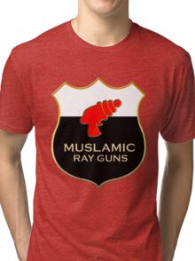 'Muslamic Ray Guns' Large Emblem Tri-blend T-Shirt