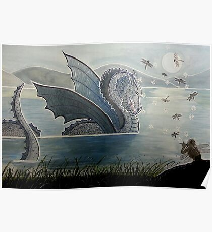 Dragon Charmer - Enchanted Dragon Art Poster