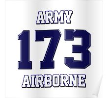Army 173 Airborne Poster