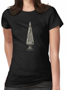 Grave Stone by Topher Adam Womens Fitted T-Shirt