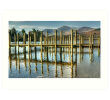 Derwentwater Jetties Art Print