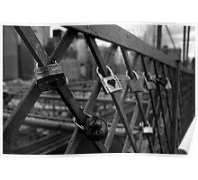 Padlocks on Brooklyn Bridge Poster