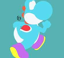 Yoshi (Cyan) - Super Smash Bros. by samaran