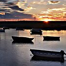 Harbour Sunset at Burnham Overy Staithe by Richard Flint