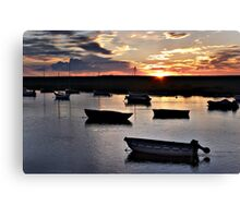 Harbour Sunset at Burnham Overy Staithe Canvas Print