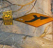 bent orange sign by froogl